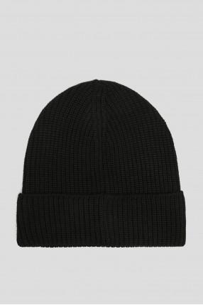 Мужская черная шерстяная шапка 1