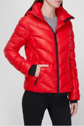 Женская красная лыжная куртка 1