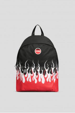 Мужской черный рюкзак с принтом