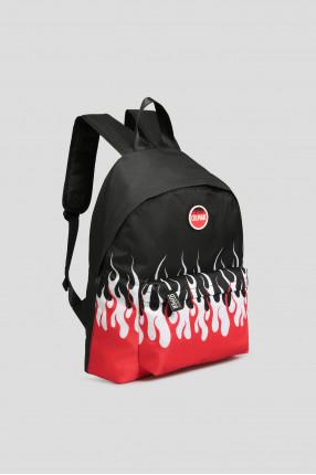 Мужской черный рюкзак с принтом 1
