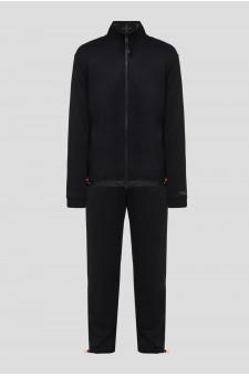 Мужской черный спортивный костюм (кофта, брюки)