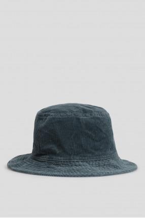 Мужская темно-синяя вельветовая панама 1
