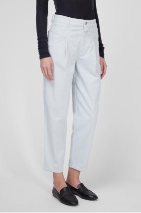 Женские голубые вельветовые джинсы 1
