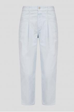 Женские голубые вельветовые джинсы