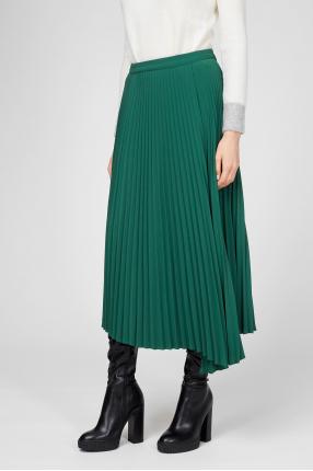 Женская зеленая юбка-плиссе 1