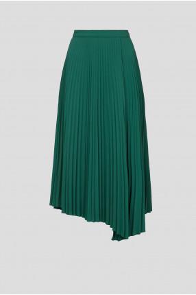 Женская зеленая юбка-плиссе