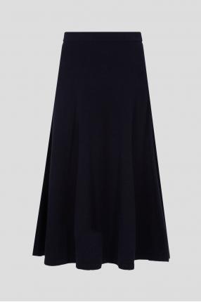 Женская темно-синяя шерстяная юбка
