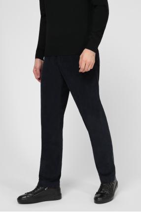 Мужские темно-синие вельветовые брюки 1