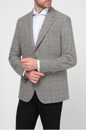 Мужской бежевый шерстяной пиджак 1