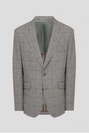 Мужской бежевый шерстяной пиджак