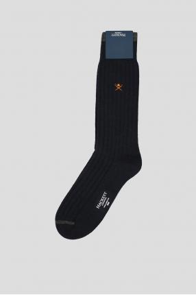 Мужские темно-синие шерстяные носки