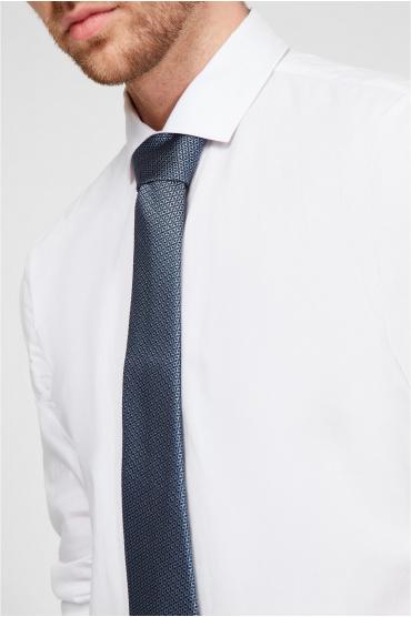 Мужской синий шелковый галстук с узором 4