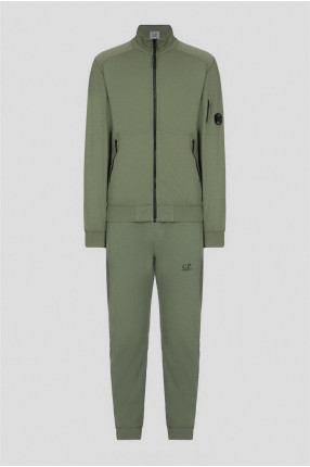 Мужской зеленый спортивный костюм