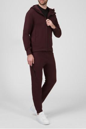 Мужской коричневый костюм (худи, брюки) 1