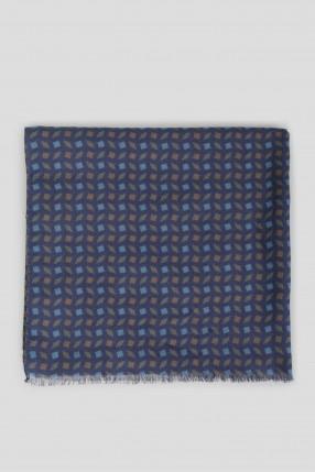 Мужской фиолетовый шарф с узором 1
