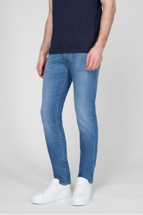 Мужские голубые джинсы  1