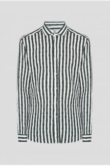 Чоловіча лляна сорочка в смужку