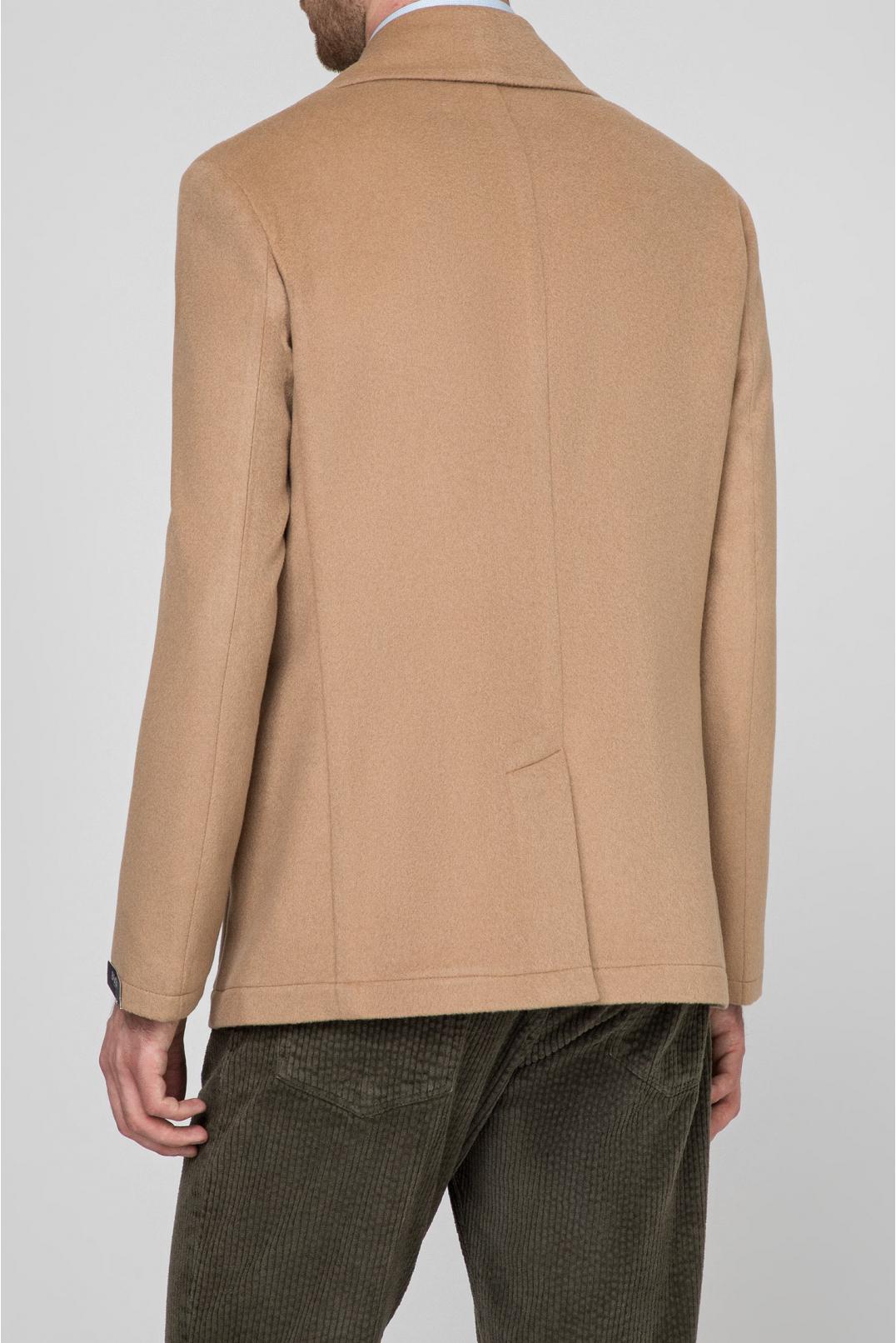 Мужское бежевое шерстяное пальто - 3