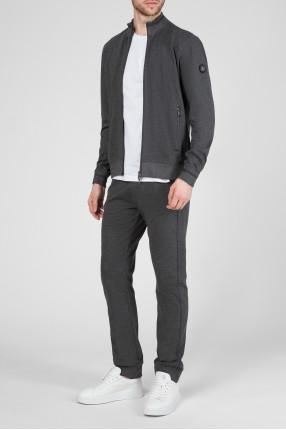 Мужской серый спортивный костюм (бомбер, брюки) 1