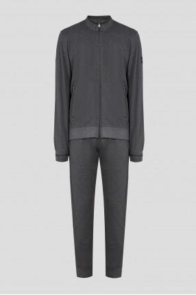 Мужской серый спортивный костюм (бомбер, брюки)