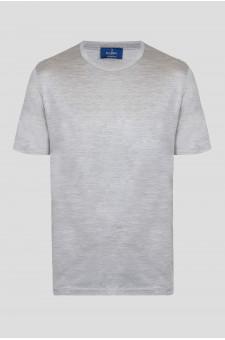 Мужская серая шелковая футболка