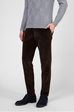 Мужские коричневые вельветовые брюки 1