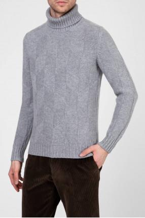 Мужской серый кашемировый свитер 1