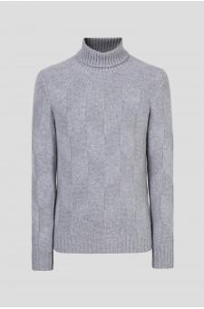 Мужской серый кашемировый свитер