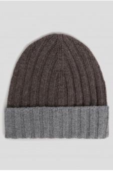 Мужская коричневая кашемировая шапка