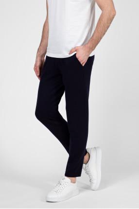 Мужские темно-синие шерстяные спортивные брюки 1