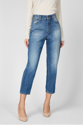 Женские синие джинсы 1
