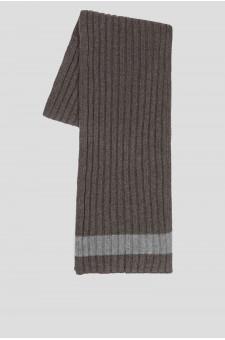 Мужской бежевый кашемировый шарф