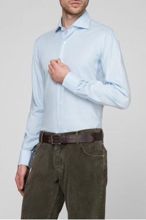 Мужская голубая рубашка 1