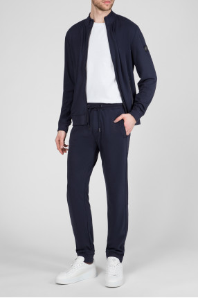 Мужской темно-синий спортивный костюм (бомбер, брюки) 1