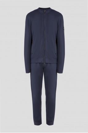 Мужской темно-синий спортивный костюм (бомбер, брюки)