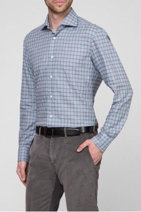 Мужская рубашка в клетку 1