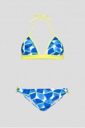 Женский синий купальник (лиф, трусики)