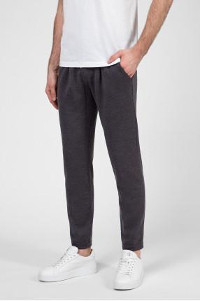 Мужские темно-серые шерстяные спортивные брюки 1