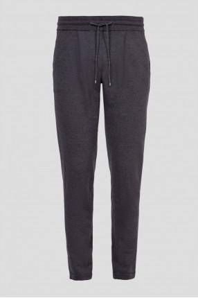 Мужские темно-серые шерстяные спортивные брюки