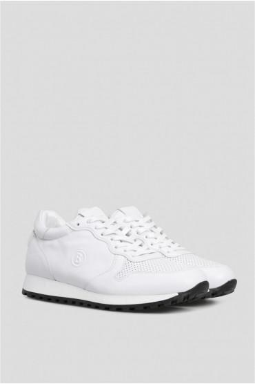 Мужские белые кожаные кроссовки 2
