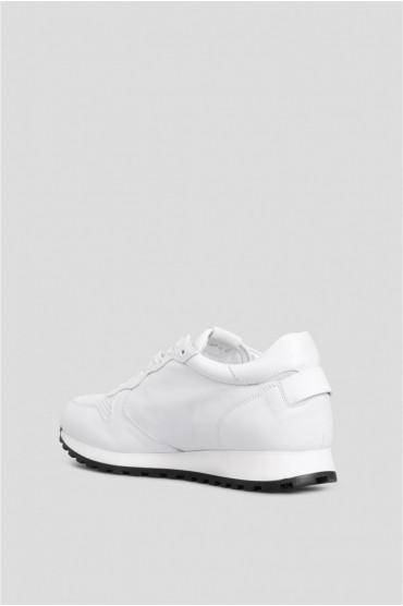 Мужские белые кожаные кроссовки 3