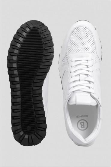 Мужские белые кожаные кроссовки 4