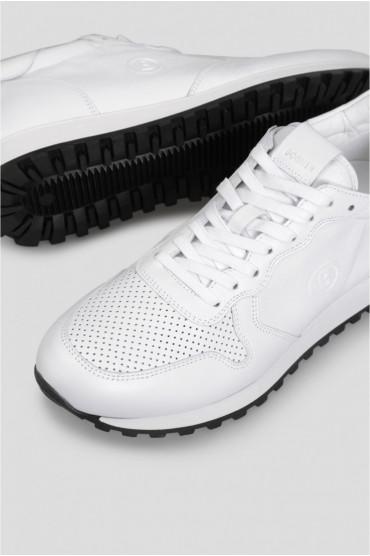 Мужские белые кожаные кроссовки 5