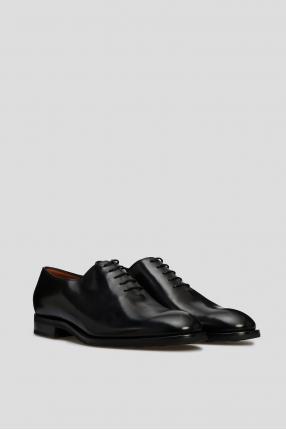 Мужские черные кожаные дерби 1