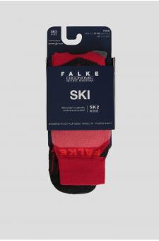 Детские красные лыжные носки