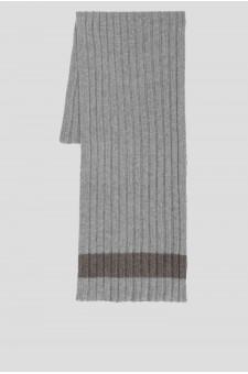 Мужской светло-серый кашемировый шарф