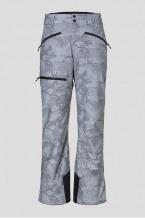 Мужские серебристые лыжные брюки