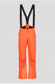 Мужские оранжевые лыжные брюки