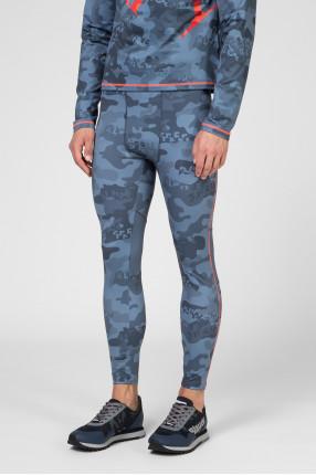 Мужские голубые камуфляжные тайтсы 1