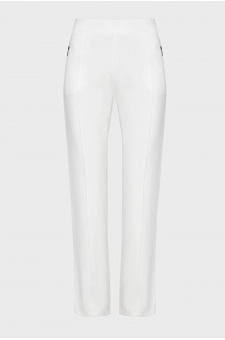 Женские белые спортивные брюки